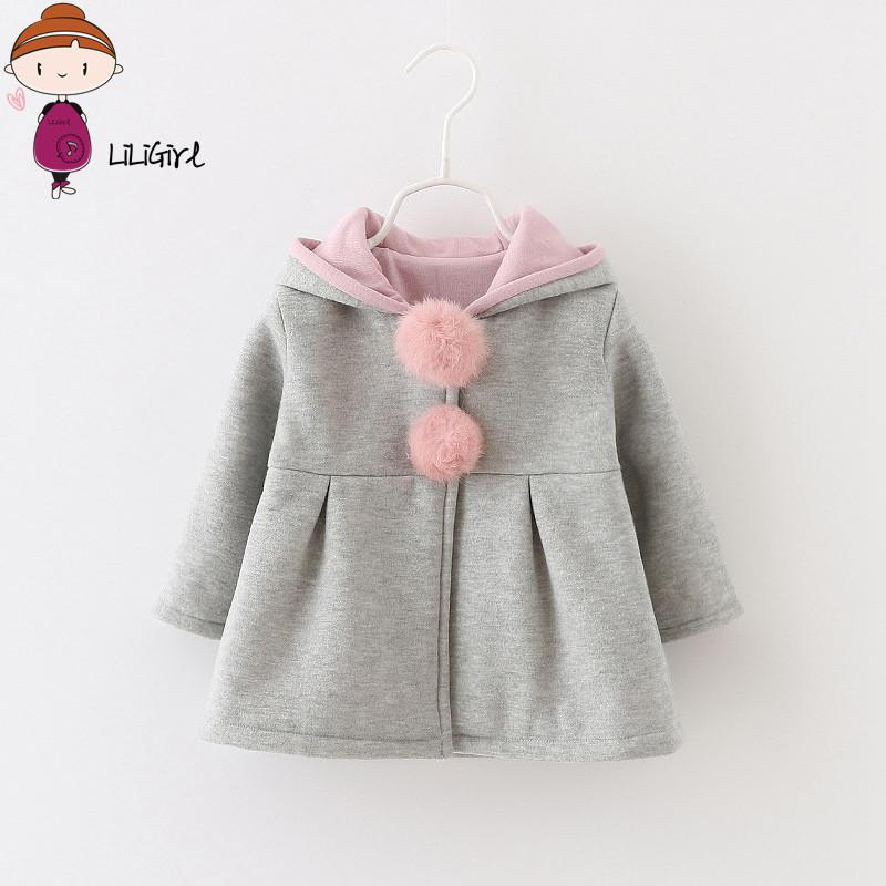 17dbd237d9a3 2018 Spring And Autumn Baby Girls Jacket Infants Ball Cute Rabbit ...
