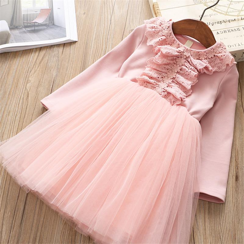 0-6 years High quality girl dress 2019 new European and American style floral kid children clothing girl party princess dress