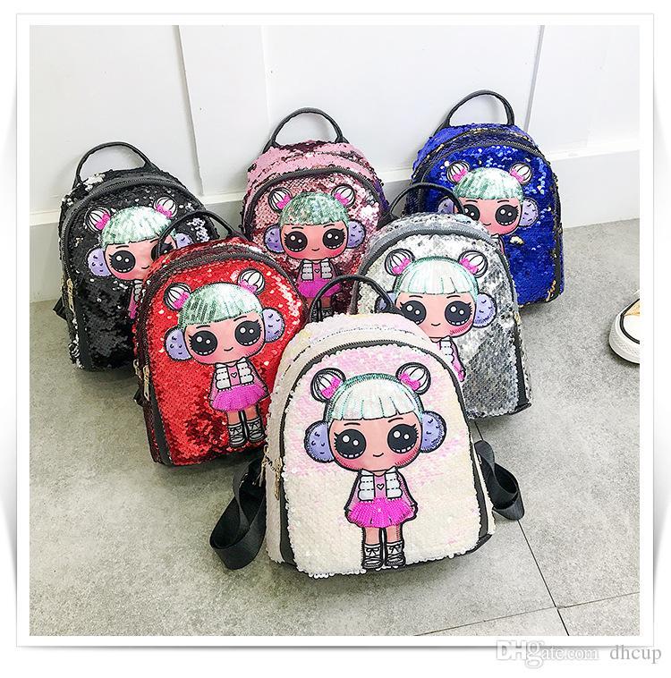 Super Cartoon Sequin School Bag Unicorn Lovely Girl Backpack 24 Styles Travel Bling Rucksack Bags Gamerscity Chair Design For Home Gamerscityorg