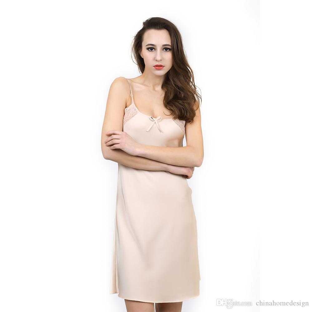 cf881dad73e 2019 Factory Sexy Nighty Women In Nightgowns Silk Night Dress For Women New  Fashion Sleepwear For Sexy Nighty For Honeymoon From Chinahomedesign