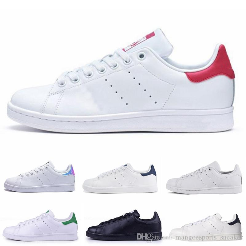 design de qualité ec799 f8293 High Quality New Stan Shoes Fashion Brand Smith Sneakers Black White  Leather Men Women Sport Jogging Sneakers Classic Flats Casual Shoes