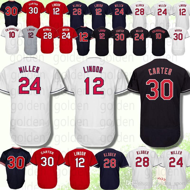 f715fc025 Cleveland Jersey Indians 10 Edwin Encarnacion 30 Joe Carter 100 ...