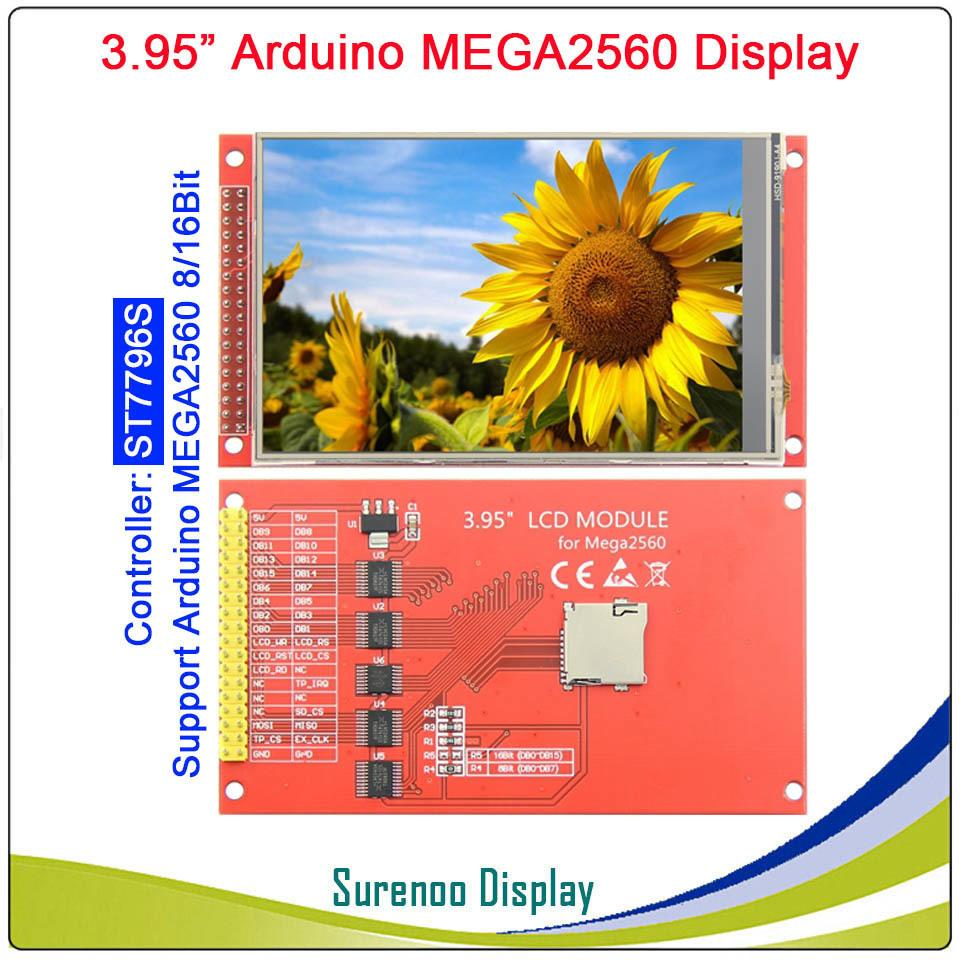 "3.95""/4.0"" Inch 320*480 Ili9488 / St7796s Tft Color Lcd Display Module Screen With Touch Panel For Arduino Uno Mega2560 8/16 Bit"