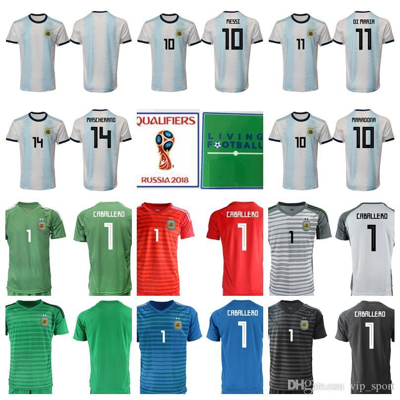 487f95ceaed 2019 2018 Word Cup 10 Lionel Messi Jersey Soccer Argentina Football Shirt  Kit 11 DI MARIA 10 MARADONA 14 Javier Mascherano 9 ICARDI DYBALA From  Vip sport