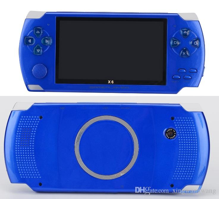أفضل 4.3 بوصة PMP لعبة المحمولة لاعب MP3 MP4 كاميرا X6 مشغل فيديو FM محمول 8GB حدة تحكم لعبة