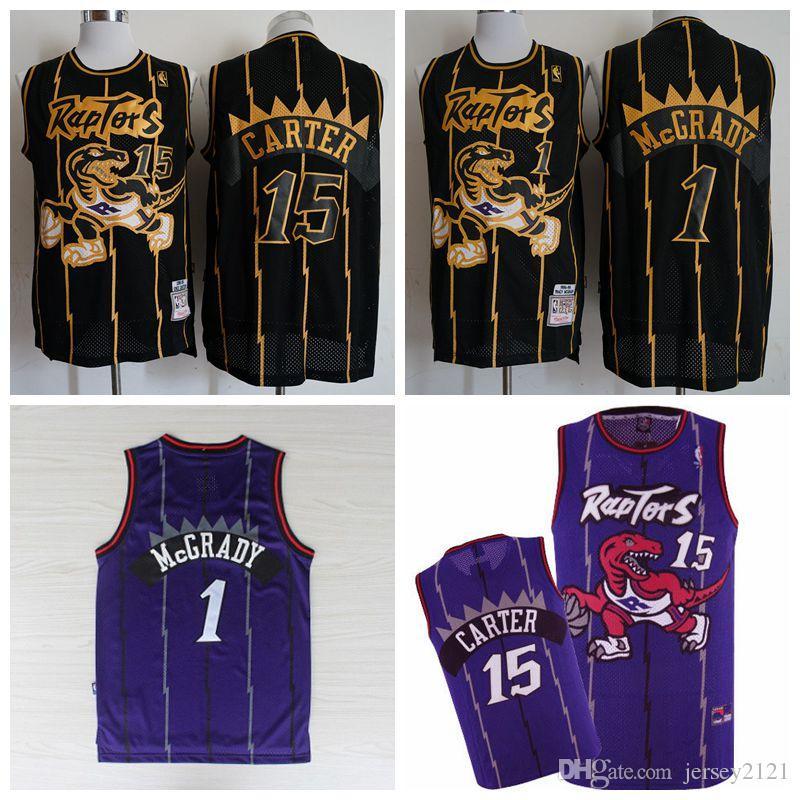 reputable site 3b339 e3dbc 2019 Men Tracy McGrady Toronto Vince Carter Raptors Mitchell & Ness 1998-99  Hardwood Purple Classics Swingman Jersey