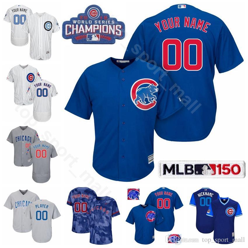 newest 2dd19 58008 Chicago Baseball Cubs 18 Ben Zobrist Jersey Men 22 Jason Heyward 40 Willson  Contreras 3 Daniel Descalso 13 David Bote 2 Mark Zagunis