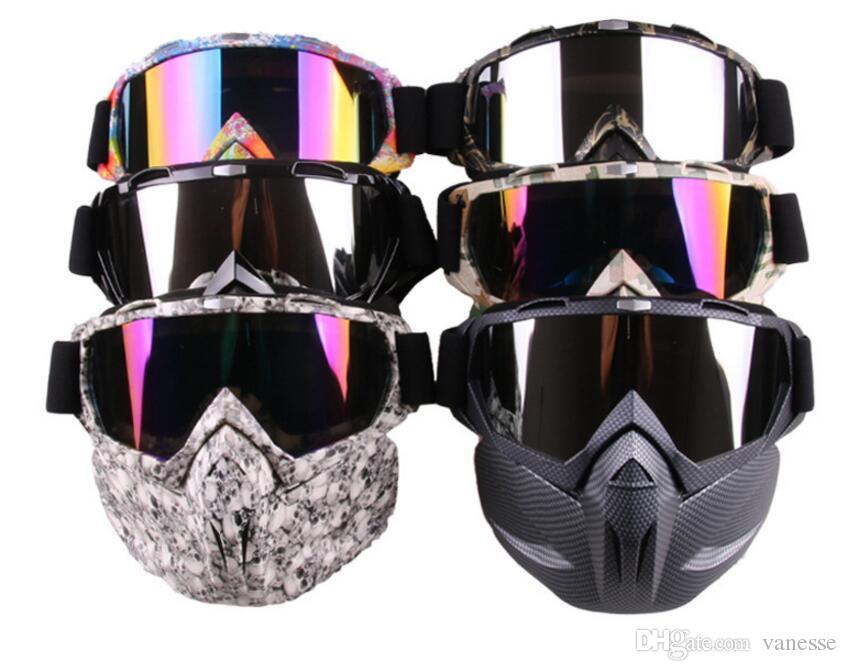Acheter 2 En 1 Hommes Femmes Ski Snowboard Motoneige Lunettes Masque Neige  Hiver Coupe Vent Ski Ski Lunettes De Ski Lunettes De Soleil Motocross De   34.48 ... cda8a3376dd8