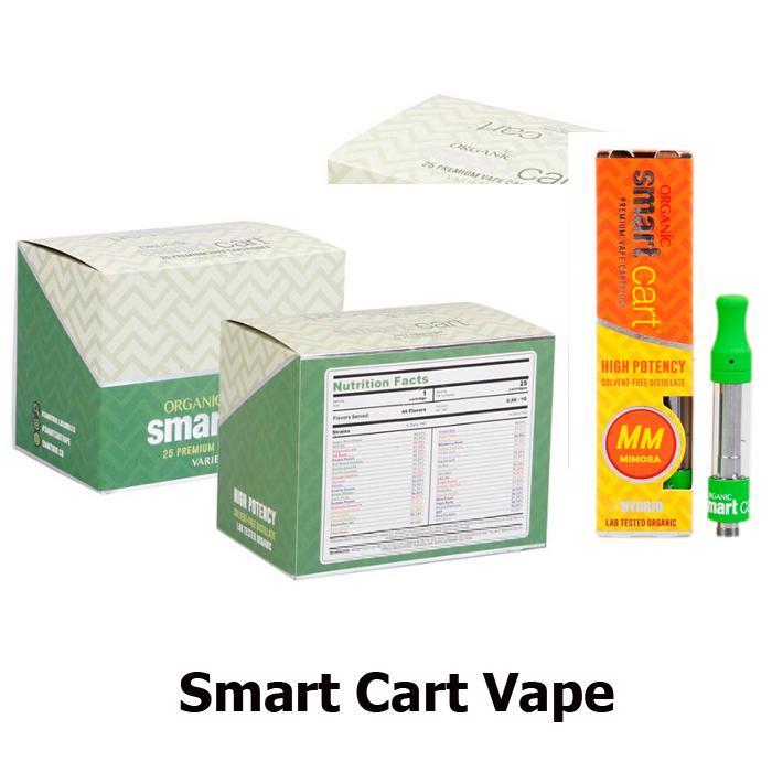 10 Flavors SmartCart Vape Cartridge 1 0ml Ceramic Coil Smart Carts Vapor  Tank 1g Top Filling No Leakage Atomizer
