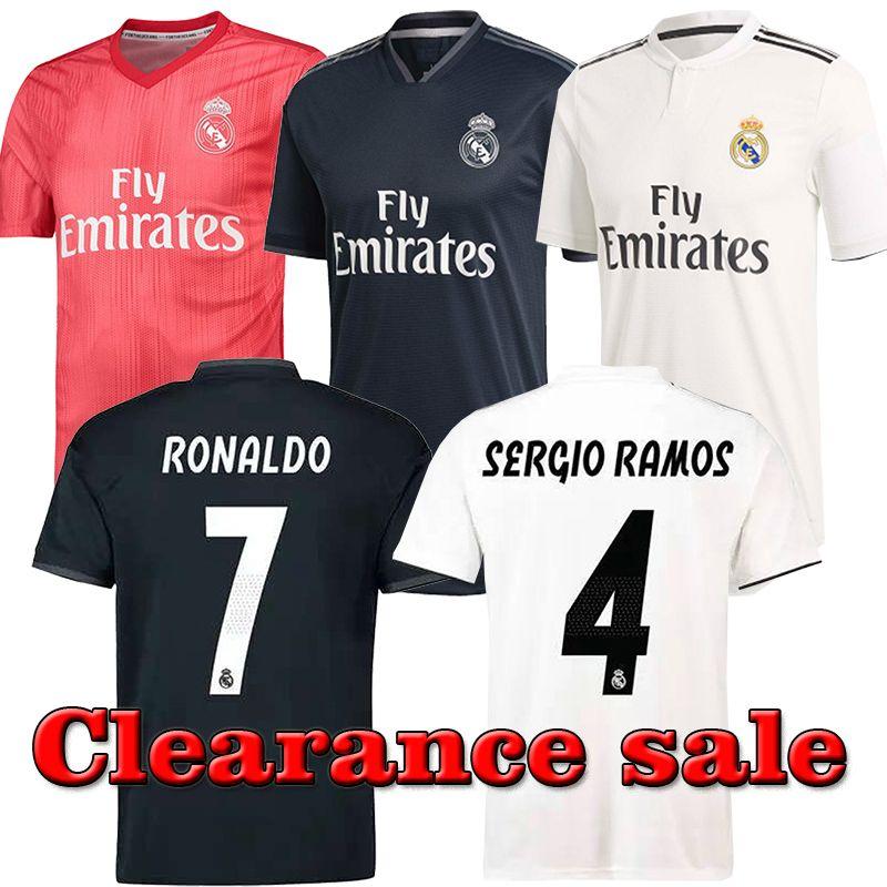 new arrival 6a82d b3159 4 SERGIO RAMOS Soccer Jerseys Real Madrid Jerseys 7 HAZARD 18/19 Real  Madrid White home Soccer Jersey 9 Benzema camiseta de fútbol