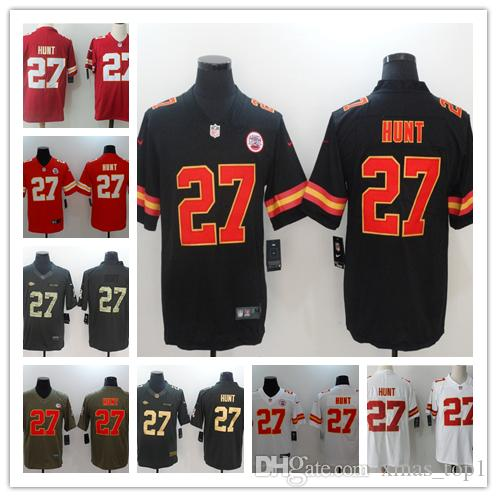 sports shoes 55d38 68eb1 2019 New Mens 27 Kareem Hunt Kansas City Chiefs Football Jersey 100%  Stitched Embroidery Chiefs Kareem Hunt Color Rush Football Jerseys