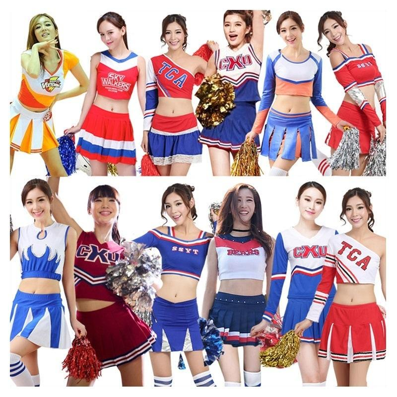 59bcd5f55 2019 Cheerleader Costume Women Football Baby Lady Cheerleading Costumes  Boys Girls Stage Performance Dresses Men Kids Adults Uniforms C18122701  From ...
