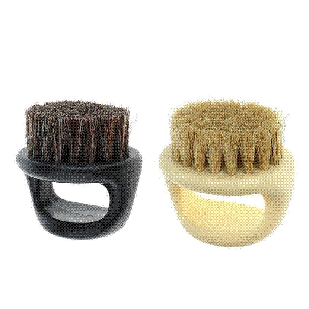 Pro Hairdresser Dust Brush Anti Static Boar Bristle Ring Beard Comb