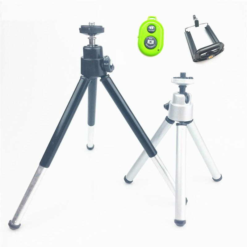 online retailer 93006 3a30d Mini Tripod For Camera Tripode for iphone 6s 7 Xiaomi With Phone Clip  Tripod Stand Mount for Nikon Gopro 5 4 Session Yi Camera