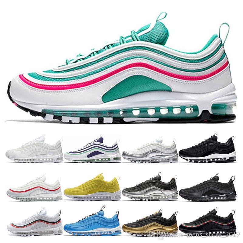 nike air max 97 shoes Diseñador Hombres South Beach Zapatos para correr Mujeres Amarillo Triple Blanco UNDEFEATED Blue Hero Metalic Oro negro blanco