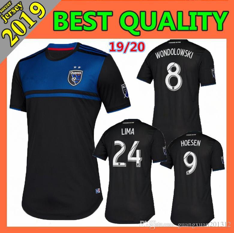 the best attitude b21e5 7f1d6 2019 2020 MLS Men's San Jose Earthquakes home Soccer Jerseys 19/20  Wondolowski HOESEN LIMA Football Shirt