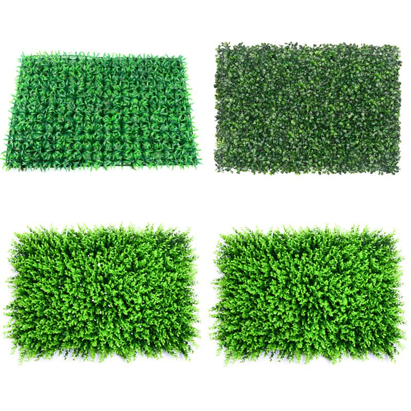 40x60cm Green Grass Mat Artificial Plant Lawns Landscape Carpet for Home Garden Wall Decoration Fake Grass Festive Party Supply