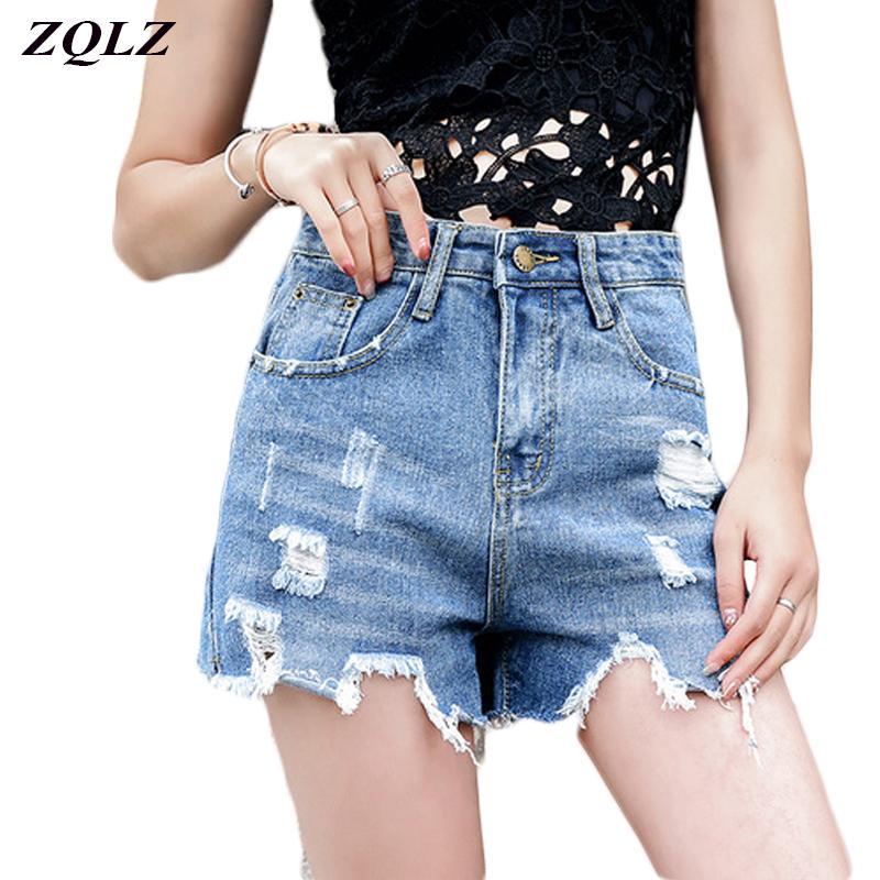 Acheter Zqlz Eté Taille Haute Denim Shorts Femmes Fahion Trou Zipper Pocket  Tassles Sexy Club Pantalon Court Femme Casual Jeans Shorts De  24.78 Du  Teapink ... 8a0e254a3ee