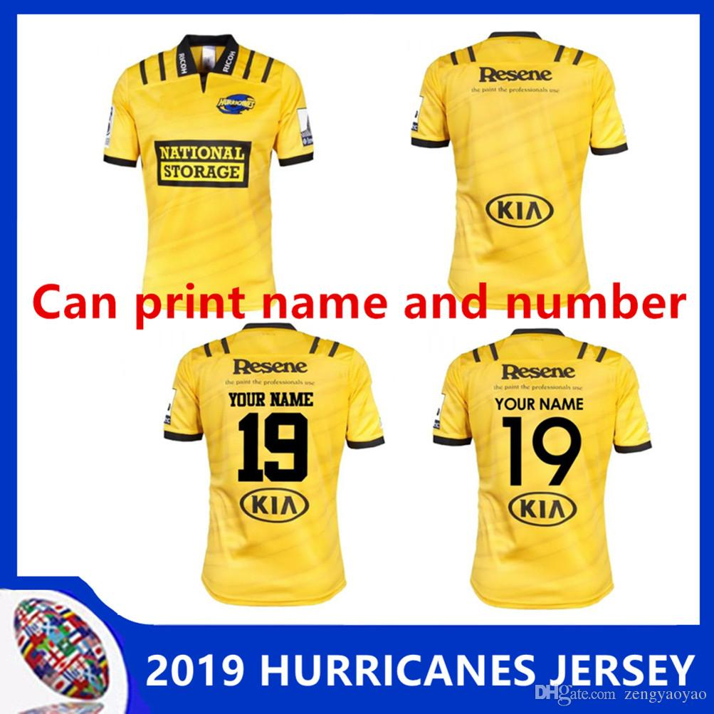9881f9a542d 2019 2019 WELLINGTON HURRICANES HOME JERSEY New Zealand Super Rugby Union  2018 New Highlanders Hurricanes Rugby Size S 3XL Can Print From Zengyaoyao,  ...