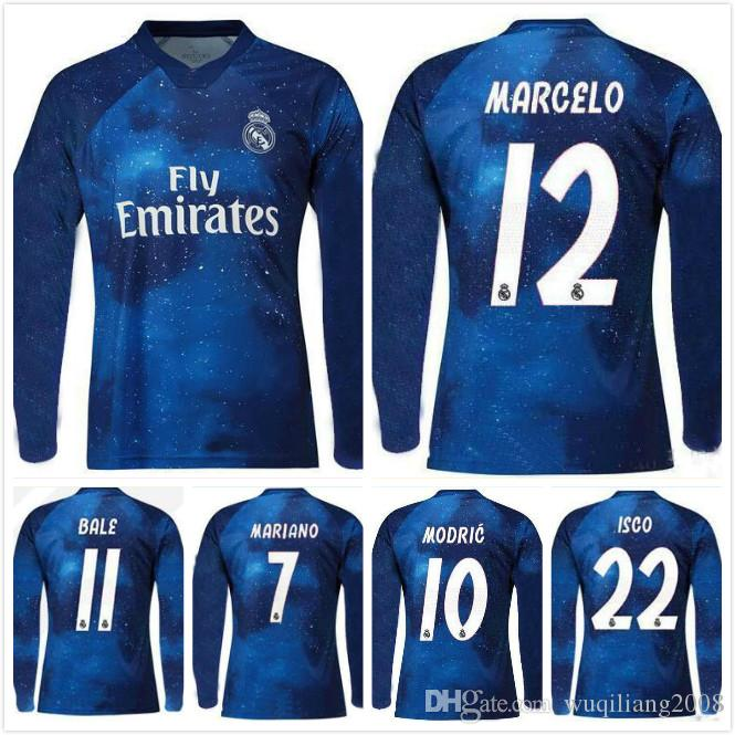 b41fd8d6 Real Madrid 18 19 EA Sports Digital INSANE Manga Larga FÚTBOL JERSEY ISCO 2018  2019 Paca MARCELO BENZEMA Camisetas De Fútbol Sobresalientes Por ...