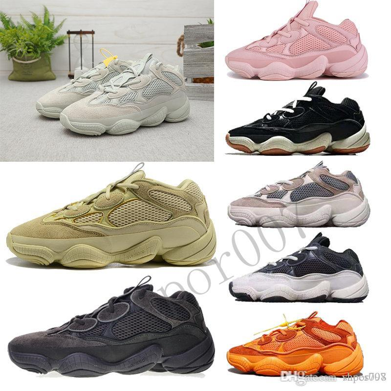 Hot 2019 Super Moon 500 Yellow Blush designer kanye west Utility Black Salt sneakers Desert Rat bone white chaussures Sterna shoes men women