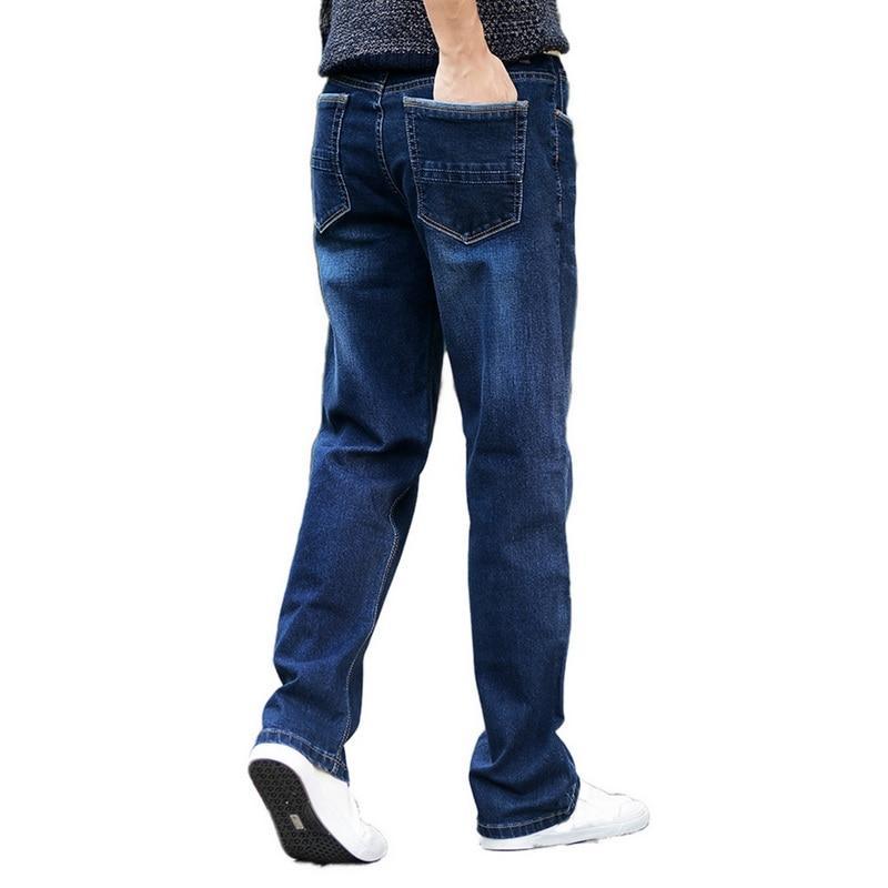 Compre LASPERAL Pantalones Rectos Sueltos Pantalones Vaqueros Clásicos  Hombres Algodón Otoño Invierno Pantalones De Mezclilla Masculinos Vaqueros  Hip Hop ... 697979e1a85