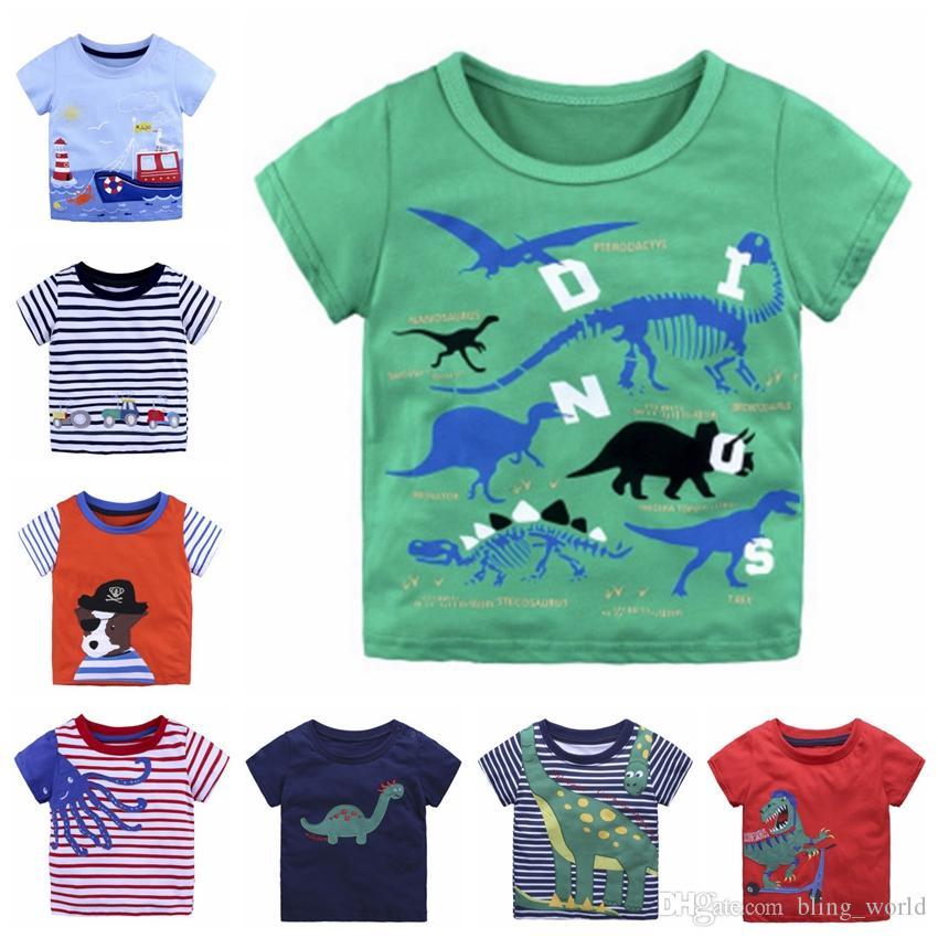 bf8a03f4154 Kids T Shirt Appliqued Baby Boy Shirts Cotton Baby Girls Tees Short Sleeve  Children Tops Summer Kids Clothing 39 Designs YW2391 Toddler Baseball Tee  Shirts ...