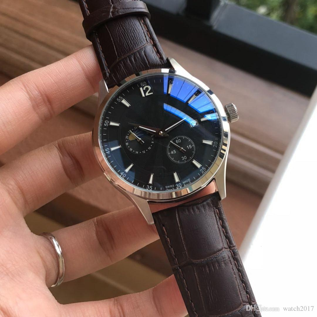 2019 DATE Very nice cheap GOOD SILVER 40MM CASE fashion men watch wholesale  luxury ran new Stainless steel mens watches