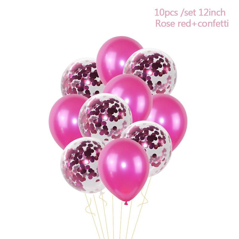 1st Birthday Balloons I AM ONE Paper Banner Pink Foil Balloons Baby Girl Birthday Party Decoration Baby 1 First Year Party Decor