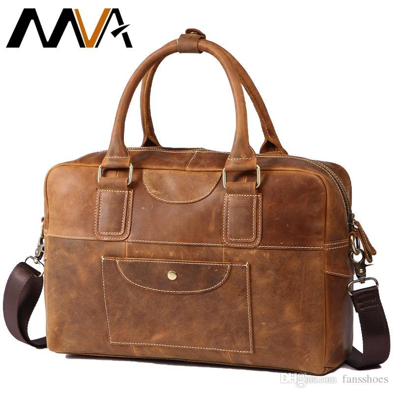 7f65accdd957 Messenger Bags Men s Genuine Leather Vintage Briefcase Men Bag Business  Briefcase Laptop Handbag Bags Mens Briefcases Male 8105 #630462