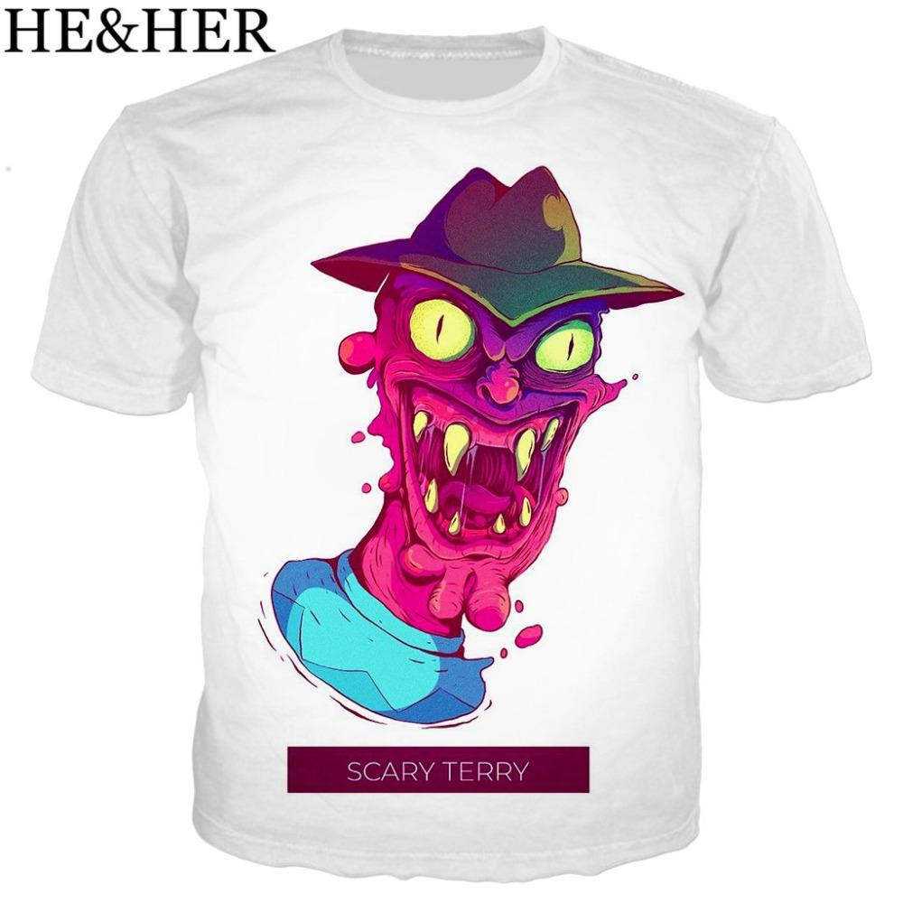 2f1c8ecfc904 New Scary Terry T Shirt Men/women Printed 3D T-shirts Casual ...