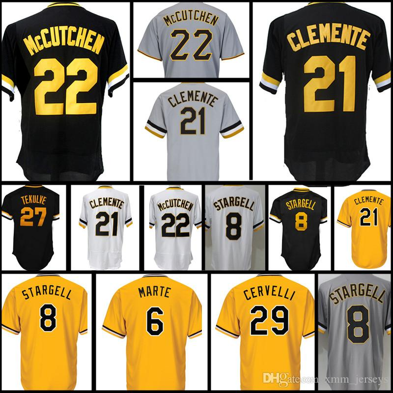 Cheap 21 Roberto Clemente 27 Kent Tekulve 8 Willie Stargell 29 Francisco  Cervelli Baseball Jerseys Men s Stitched Jersey Stitched Logos Free  Shipping Cheap ... 74774f570