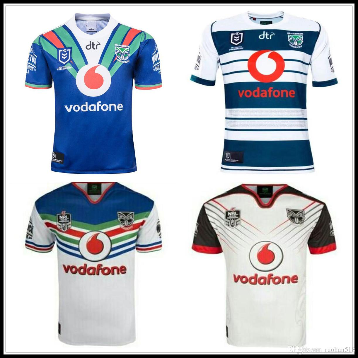 2019 2018 2019 Auckland Warriors Rugby Jerseys New Zealand Top Quality 9S  Men Rugby Shirts NZ Warriors Shirts From Ruohan518 af99ccb61