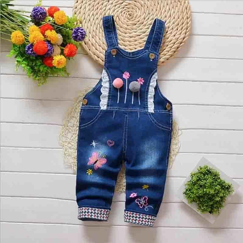762ef5fff 2019 Good Quality 2019 Spring Autumn Overalls Kids Baby Girls Jeans Pants  Newborn Lnfant Boys Denim Jumpsuit 9M 24M Baby Pants From Zerocold08, ...