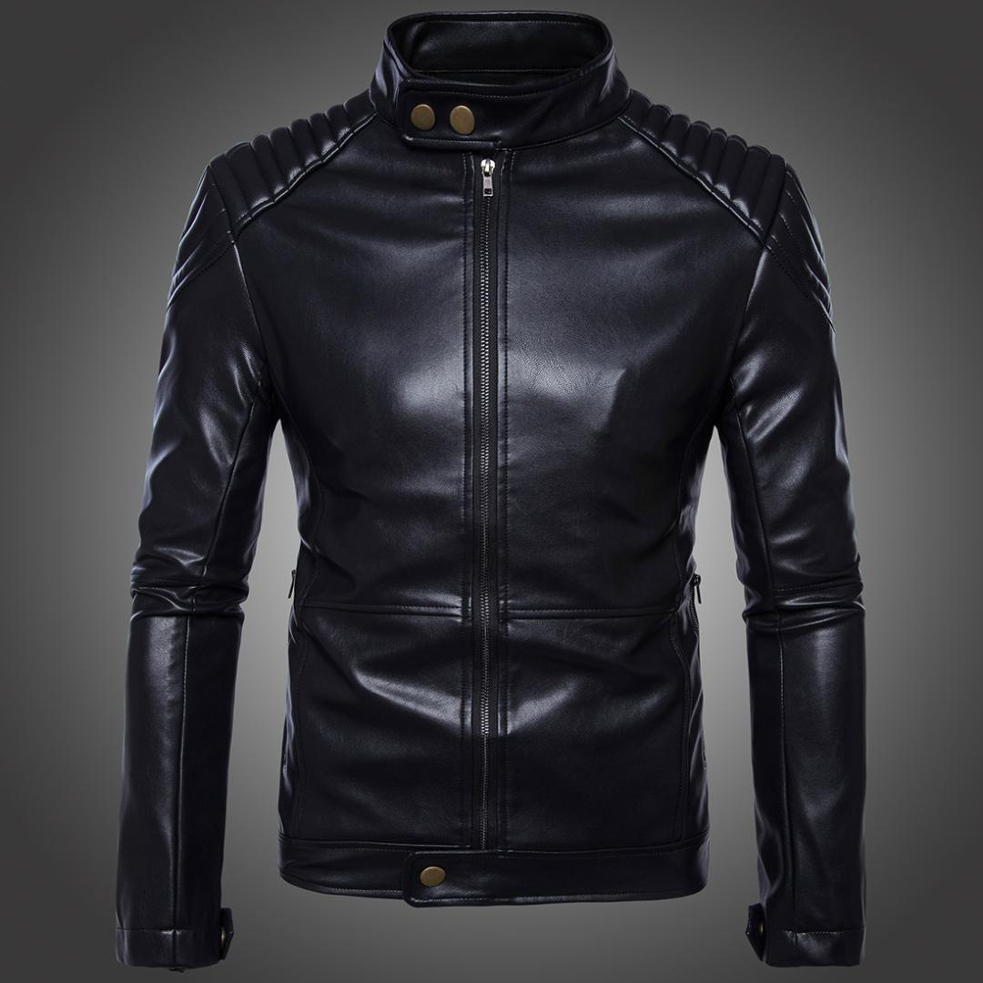 Nuove giacche in pelle Boutique Uomo Giacca moto bomber nera Giacca a vento in pelle da uomo in pelle naturale Cappotto da motociclista Plus Size 5XL