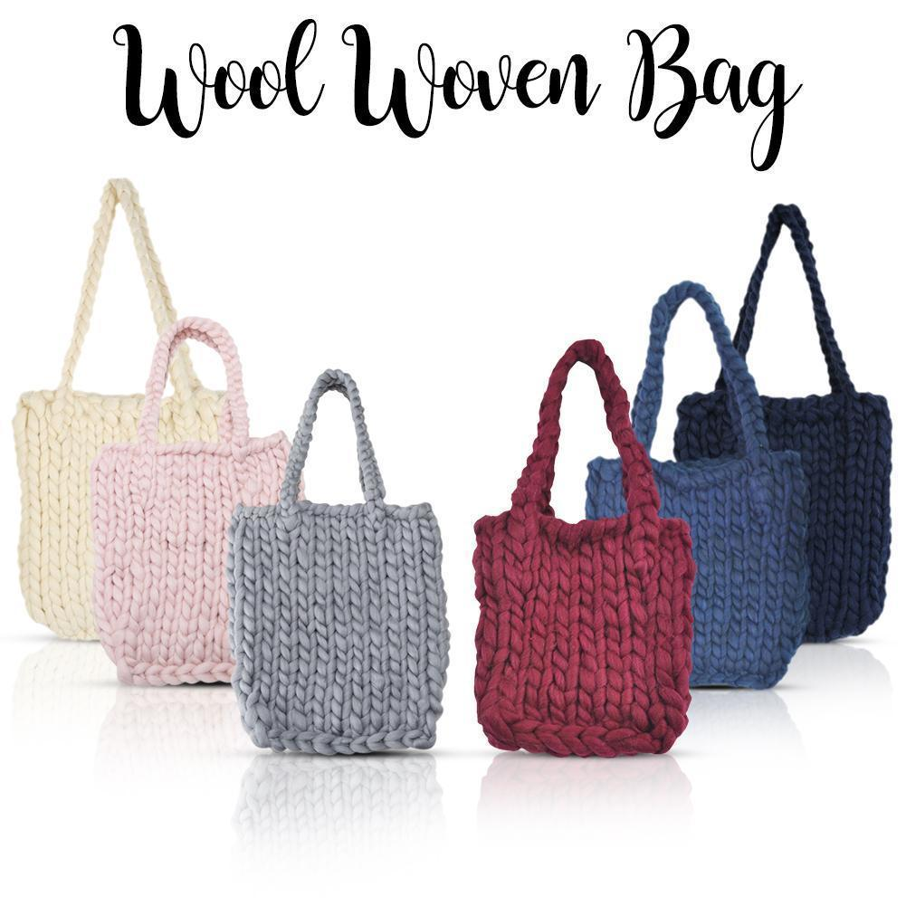 Thick single shoulder wool woven bags solid color casual handmade jpg  1001x1001 Wool bags 70045714e82cc