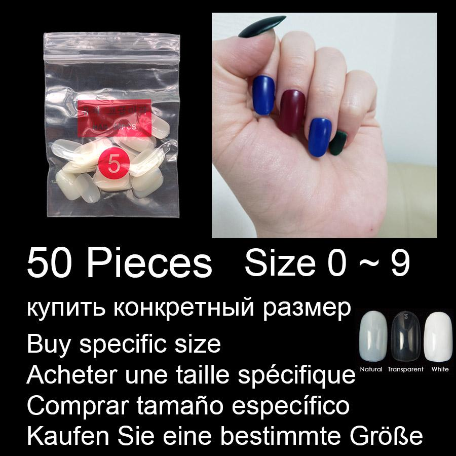 Sale By Specific Size Short Rounded False Nails Full Cover Nails Size 0 1 2 3 4 5 6 7 8 Available 3 Colors Fake Nail For