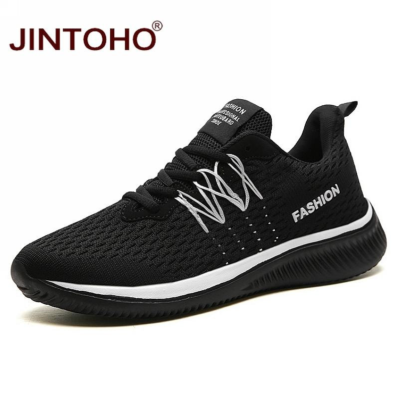 JINTOHO Grande Taille Unisexe Sneakers Mode Casual Chaussures Respirant Chaussures Pour Hommes Pas Cher Hommes Sneakers Bande Mâle Shose