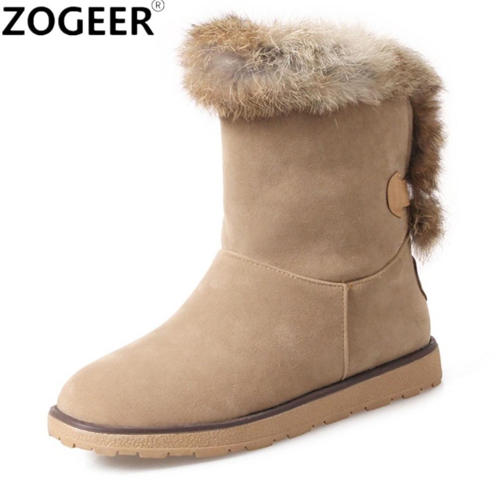 the best attitude 39e52 fadb7 Marke Frauen Stiefel Weibliche Winter Schuhe Frau Pelz Warme Schneeschuhe  Mode Lässig Low Heels Knöchel Schwarz gelb Damen Schuhe