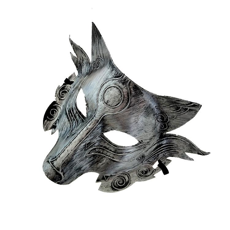 a7d01a7edc47d 2019 Wolf Animal Mask Festival Halloween Party Cosplay Costume Wolf Ball  Bar Decoration Adult Mask Gold and Silver Wholesale