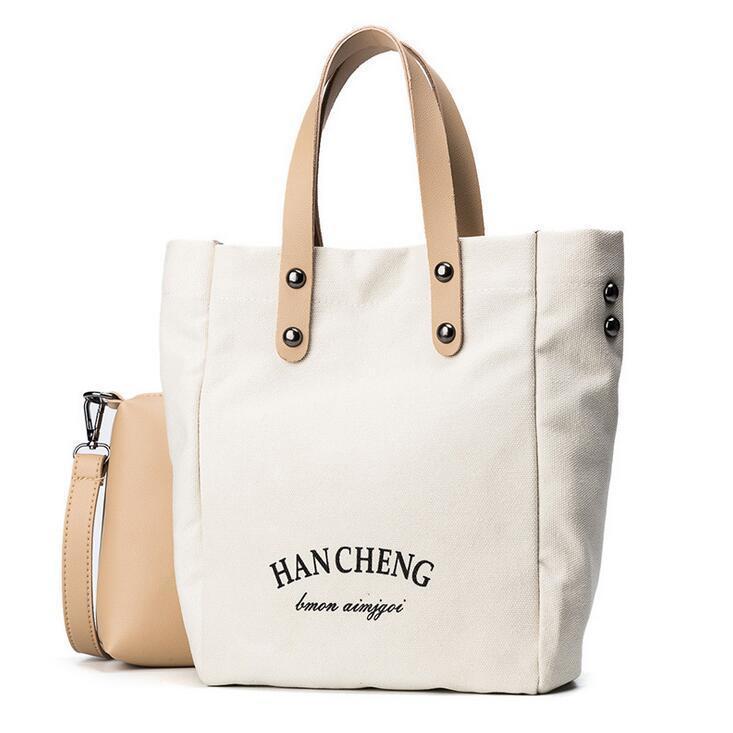 d94a7f7cc87c 2bags 2019 Fashion New Women Handbags High Quality Canvas Women Bag Lady  Big Tote Bag Simple Portable Shoulder Messenger Bag Best Messenger Bags  Handbags ...