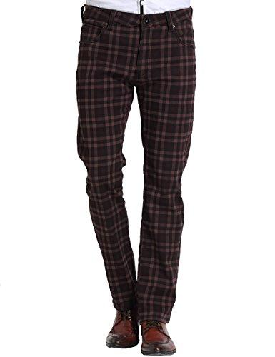 09627493c9 2019 SSLR Men'S Check Thermal Straight Fit Fleece Jeans Pants From ...