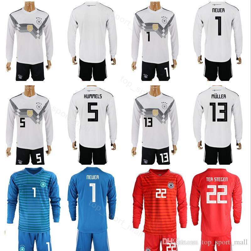 info for 59c26 1859a germany 1 neuer white home long sleeves soccer country jersey
