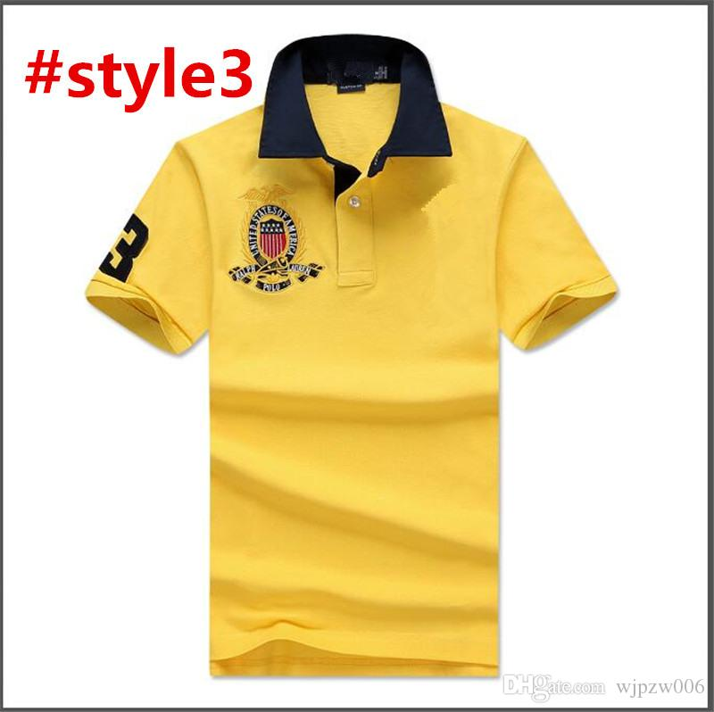 76af1d4772d9 USA Brand Designer New Tide Casual Men s Sports Polo Shirt Compassionate  Men s Youth Collar Embroidery Slim Short-sleeved T-shirt Summer Men USA  Brand ...