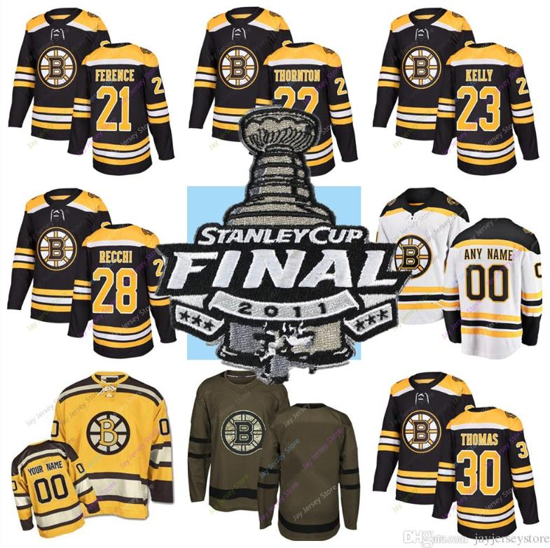reputable site 5f1c5 d3722 2011 Stanley Cup Jersey Hockey Boston Bruins Andrew Ference Shawn Thornton  Chris Kelly Mark Recchi Tim Thomas Zdeno Chara Men, Women, Youth