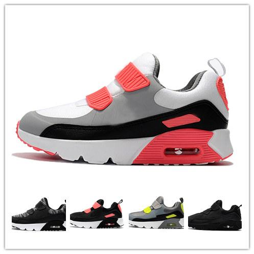Top Quality 90s Kids Running Shoes Toddler Boy Girls Breathable Mesh ... 9c568e723