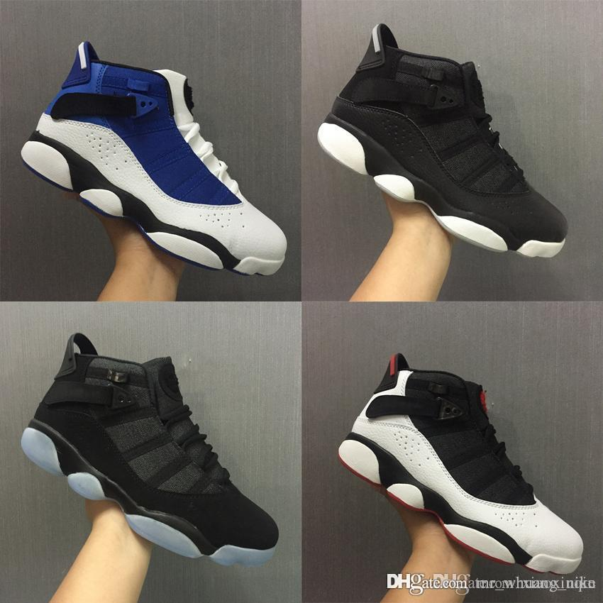 newest 7f68b a6344 Cheap Mens Retro 6s rings basketball shoes for sale Black French Blue White  Oreo AJ6 Jumpman VI air flights sneakers boots J6 with box