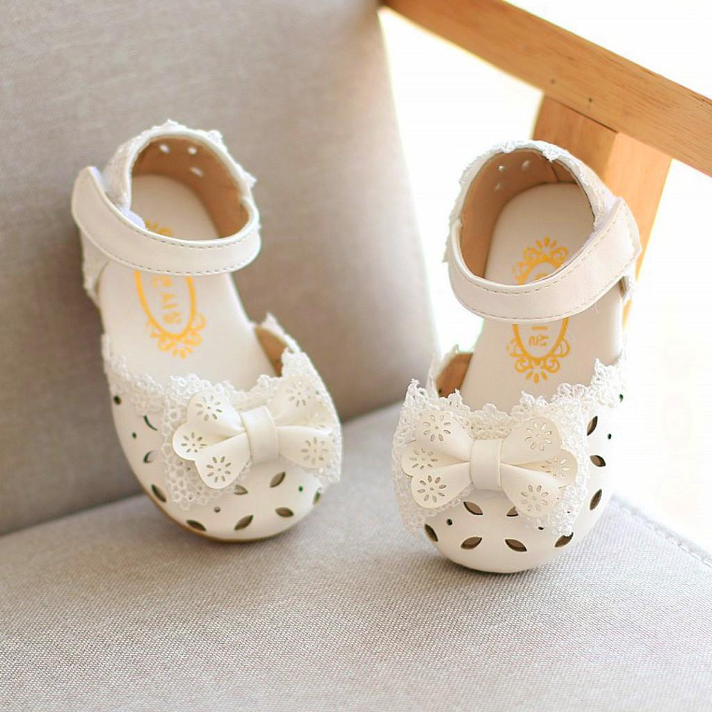 Toddler Infant Kids Baby Girls Elegant Bowknot Flower Princess Shoes Sandals For Girls Summer Shoes Kids Bow Sandal 2019