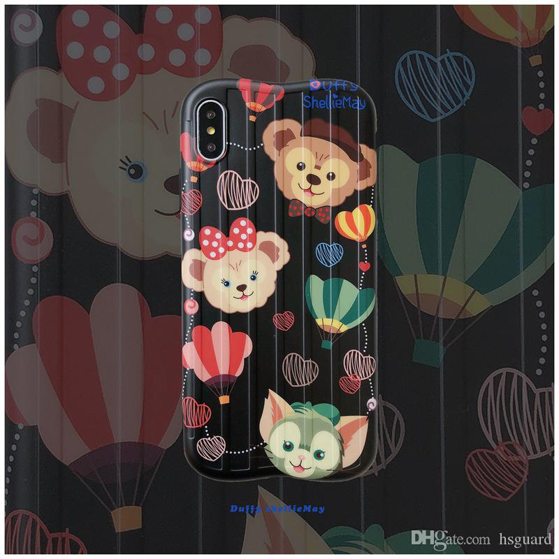 For Iphone Xs Max X Xr Phone Case Brand Bear Cute For Apple 7 8 6 Plus Silicone Suitcase Soft Cell Phone Cases