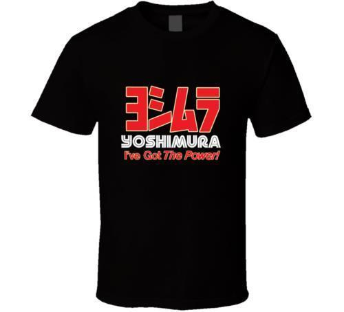 New Yoshimura I'Ve Got The Power Logo Camicia uomo nera bianca Usa taglia S-3XL Af1